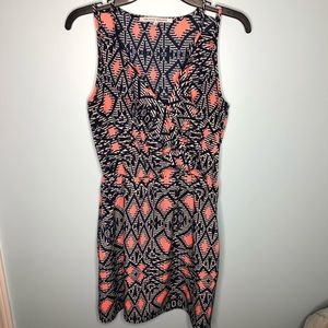 Collective Concepts Aztec Dress Size Small Blue